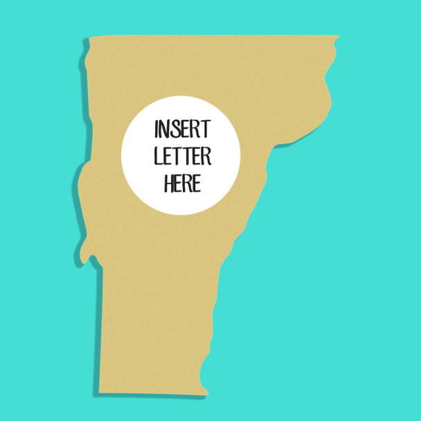 Vermont Frame Letter Insert Wooden Monogram Unfinished DIY Craft