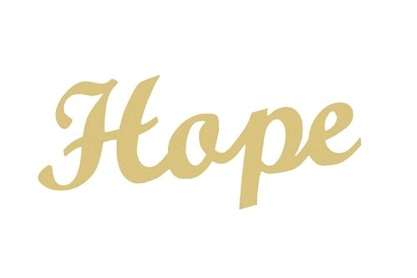 Unfinished Wooden Connected Word-Hope