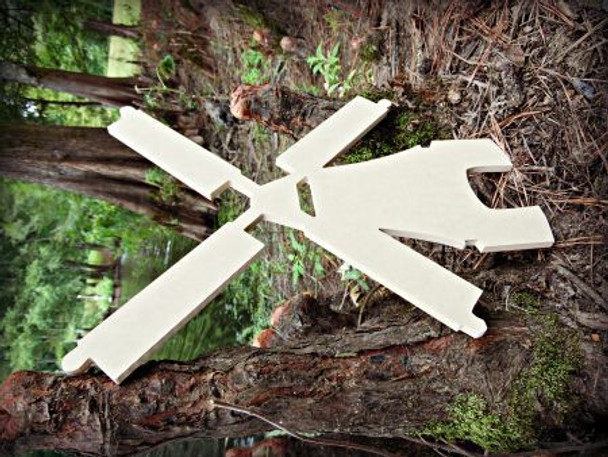 Windmill Unfinished Cutout, Wooden Shape, Paintable Wooden MDF DIY