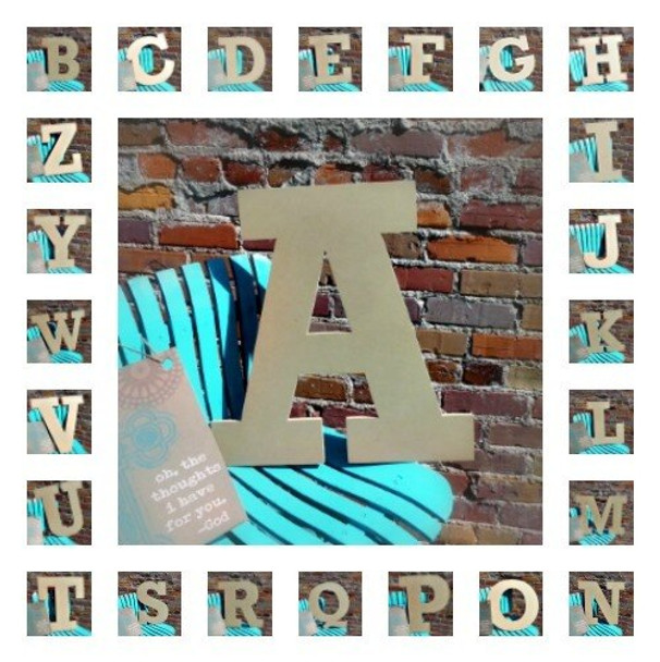 Unfinished Wooden Large Wall Letters