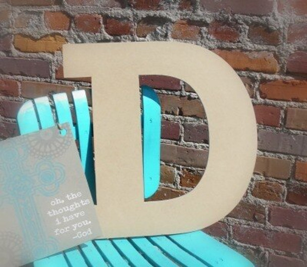 Unfinished Wooden Large Wall Letters-D