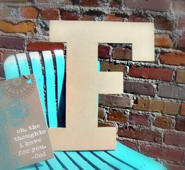 Unfinished Wooden Large Wall Letters-F