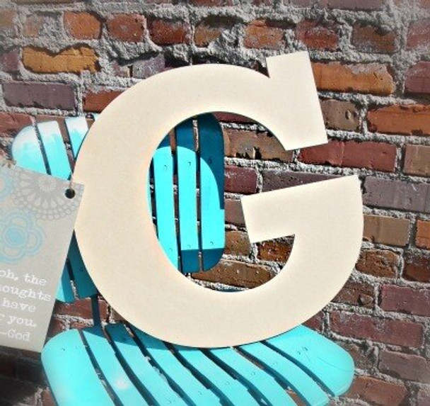 Unfinished Wooden Large Wall Letters-G