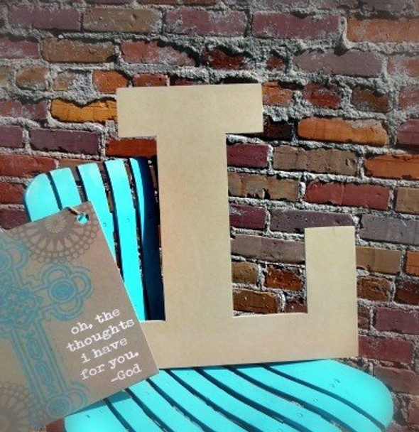 Unfinished Wooden Large Wall Letters-L
