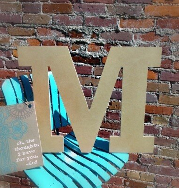Unfinished Wooden Large Wall Letters-M