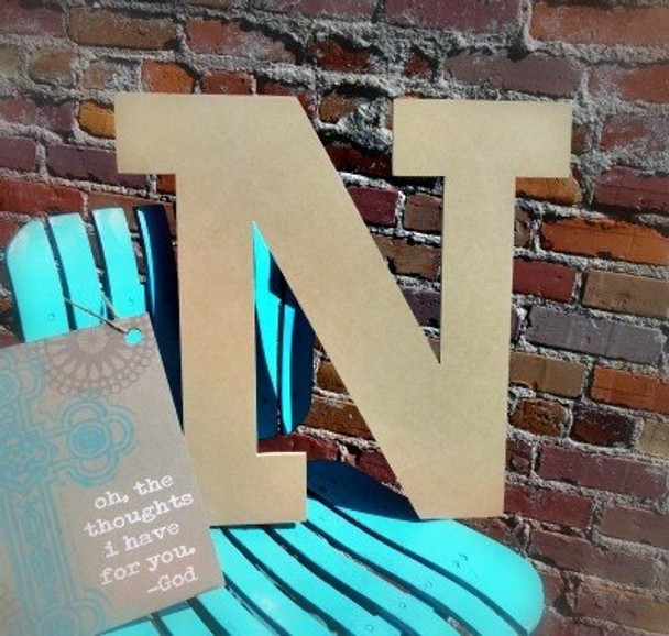 Unfinished Wooden Large Wall Letters-N