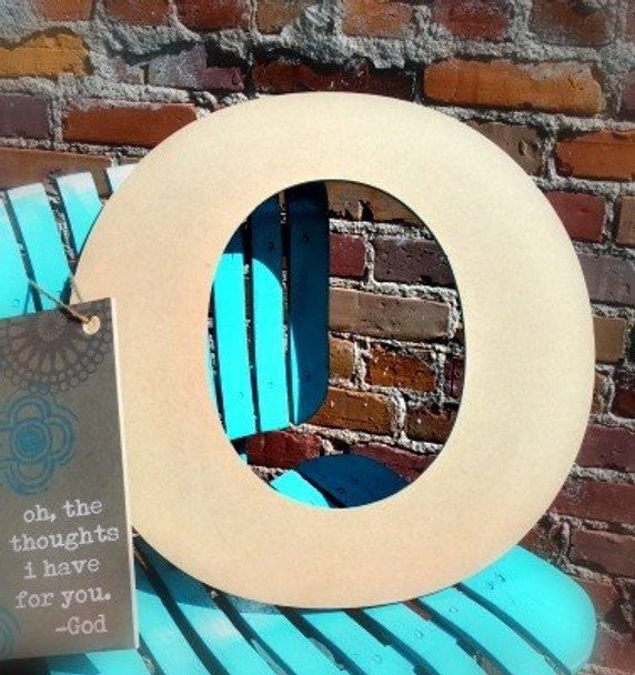Unfinished Wooden Large Wall Letters-O