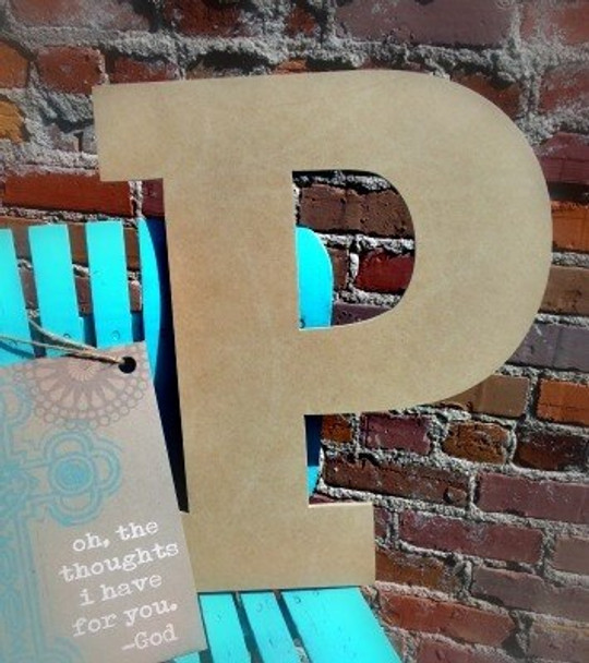 Unfinished Wooden Large Wall Letters-P