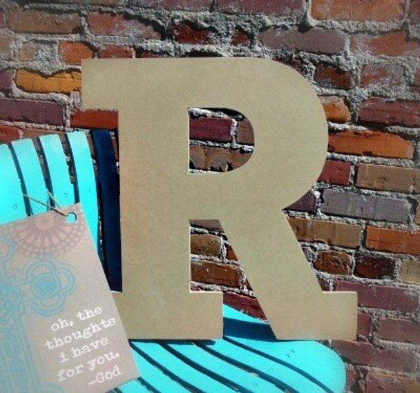 Unfinished Wooden Large Wall Letters-R