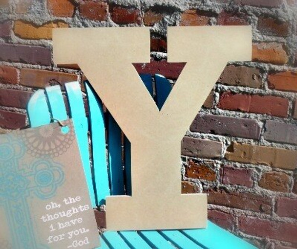 Unfinished Wooden Large Wall Letters-Y