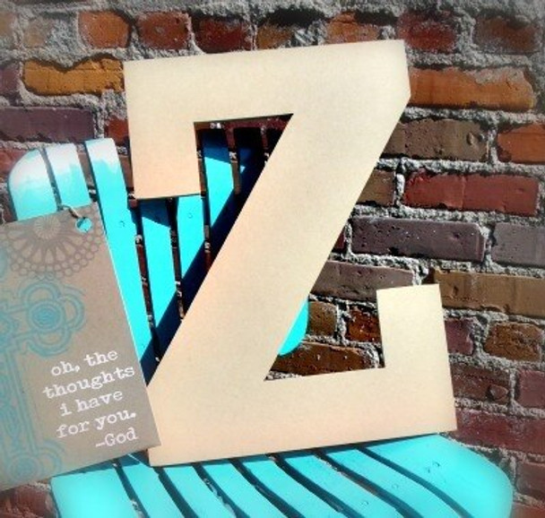 Unfinished Wooden Large Wall Letters-Z