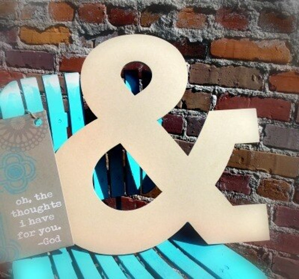 Unfinished Wooden Large Wall Letters-&