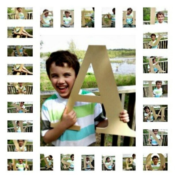 Wooden Letter Decals for Wood-A
