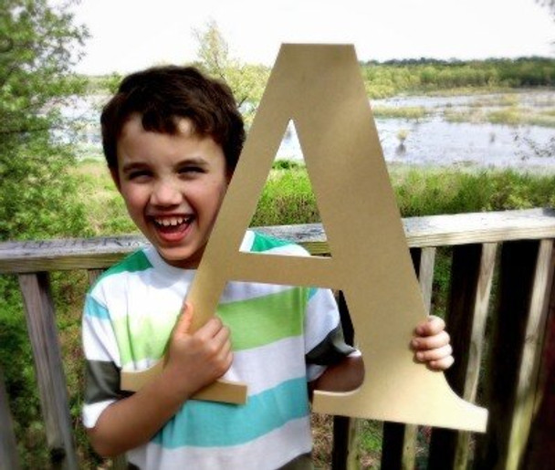 A-Wooden Letter Decals for Wood