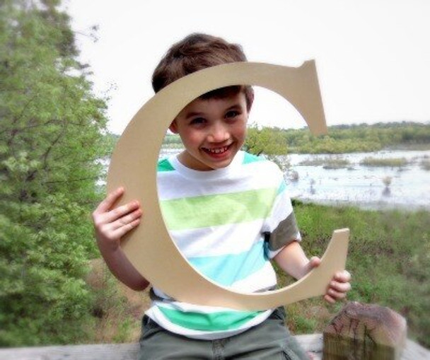 Wooden Letter Decals for Wood-C