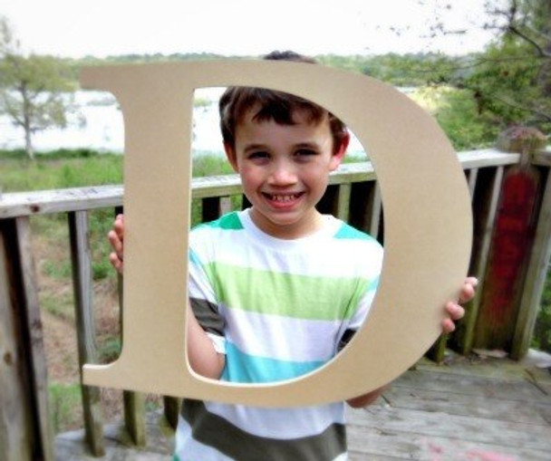Wooden Letter Decals for Wood-D