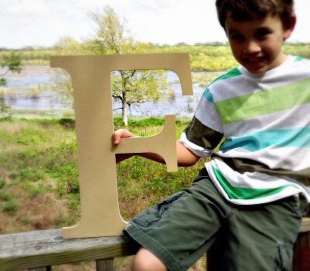 Wooden Letter Decals for Wood-F