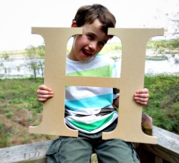 Wooden Letter Decals for Wood-H