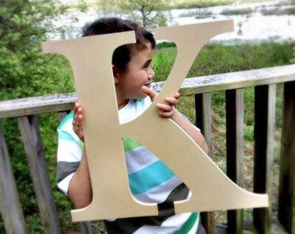 Wooden Letter Decals for Wood-K