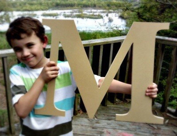 Wooden Letter Decals for Wood-M
