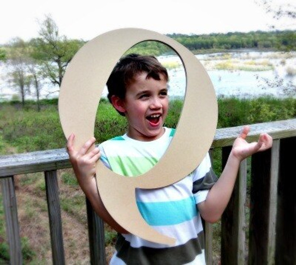 Wooden Letter Decals for Wood-Q