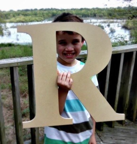 Wooden Letter Decals for Wood-R