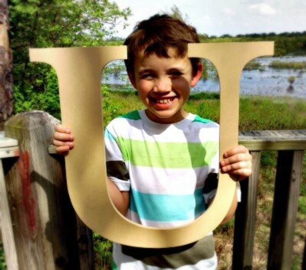 Wooden Letter Decals for Wood-U