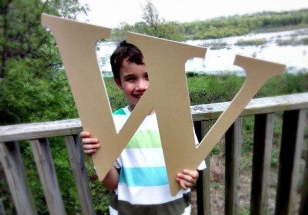 Wooden Letter Decals for Wood-W