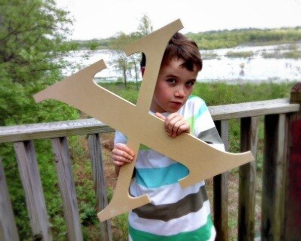 Wooden Letter Decals for Wood-X