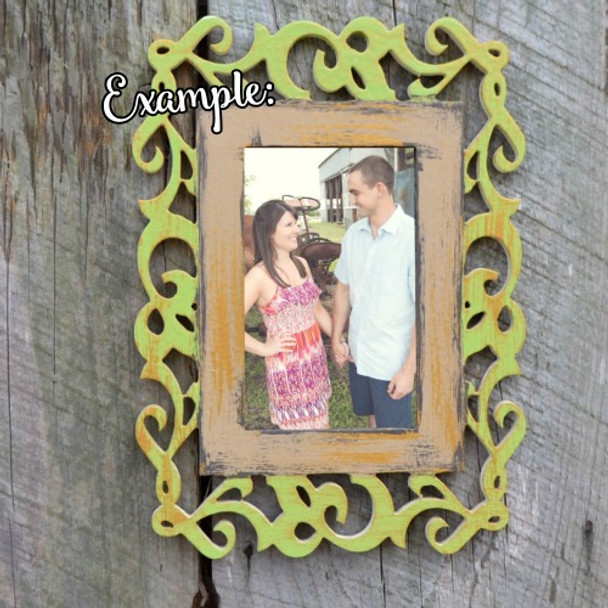 Unfinished Whimsical Picture Frame Wooden Paintable DIY IVY