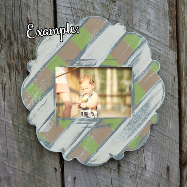 Unfinished Whimsical Picture LILY  Frame Wooden Paintable DIY Wood Art