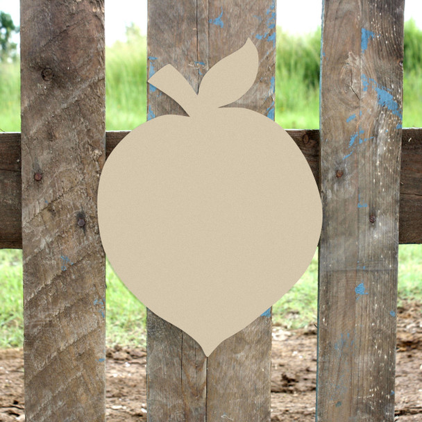 Peach Unfinished Cutout, Wooden Shape, Paintable Wooden MDF