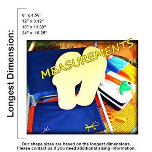 Double Flip-Flop Unfinished Cutout measurements