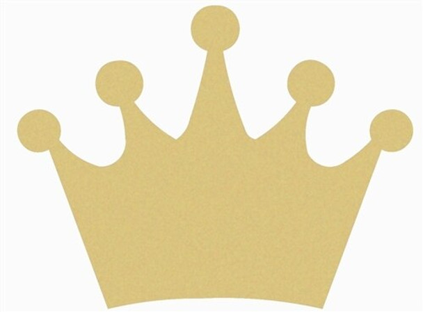 Crown Unfinished Craft Wood Cutout DIY Shape MDF