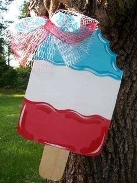 Popsicle Unfinished Cutout Paintable Wooden MDF