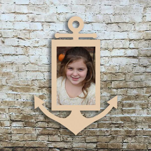 Skinny Anchor Picture Frame Unfinished DIY Wooden Frame