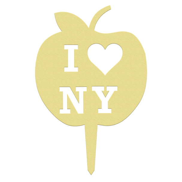 Unfinished outdoor DIY wooden yard art pattern Apple NYC sign