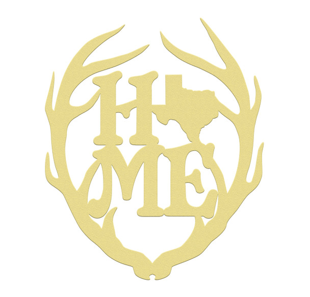 Antler Home State Unfinished Cutout, Wooden Shape, MDF DIY Craft