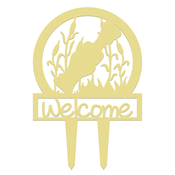 Unfinished outdoor welcome DIY wooden yard art pattern duck call sportsman sign