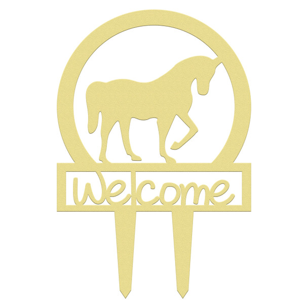 Unfinished outdoor welcome DIY wooden yard art pattern horse sportsman sign