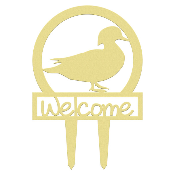 Unfinished outdoor welcome DIY wooden yard art pattern wood duck sportsman sign