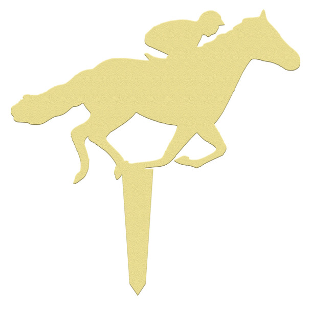 Unfinished outdoor DIY wooden yard art pattern horse rider sign