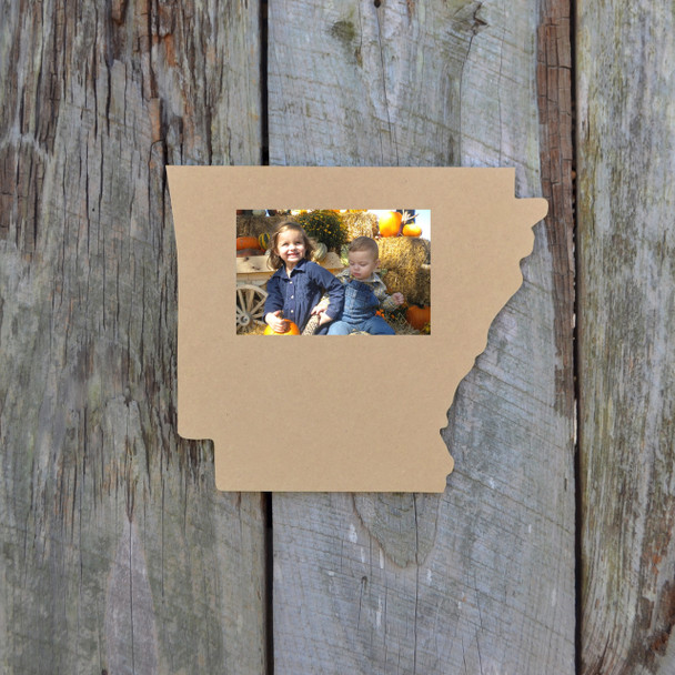 Unfinished Arkansas State Picture Frame