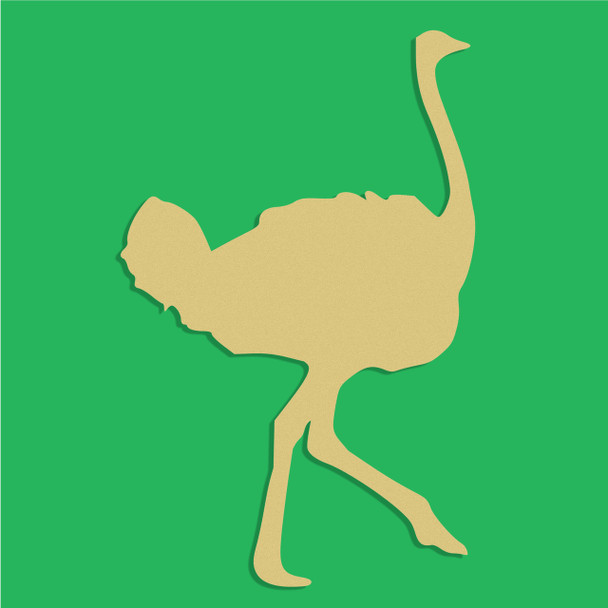 Ostrich Unfinished Cutout, Wooden Shape, Paintable Wooden MDF