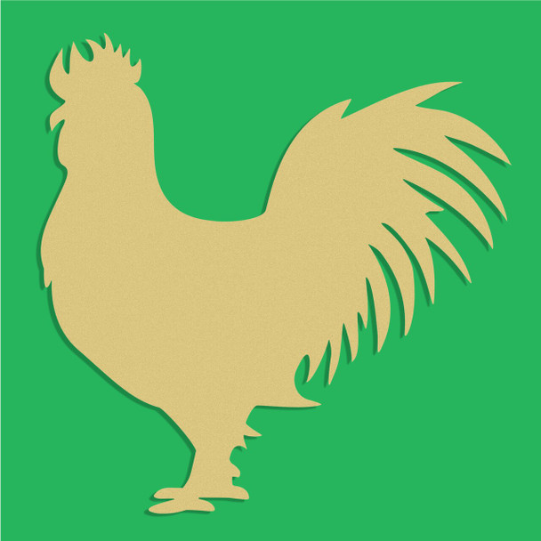 Rooster Unfinished Cutout