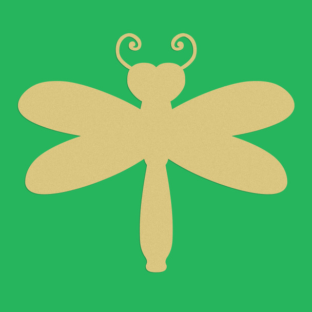 Heart Dragonfly Unfinished Cutout, Wooden Shape, Paintable Wooden MDF