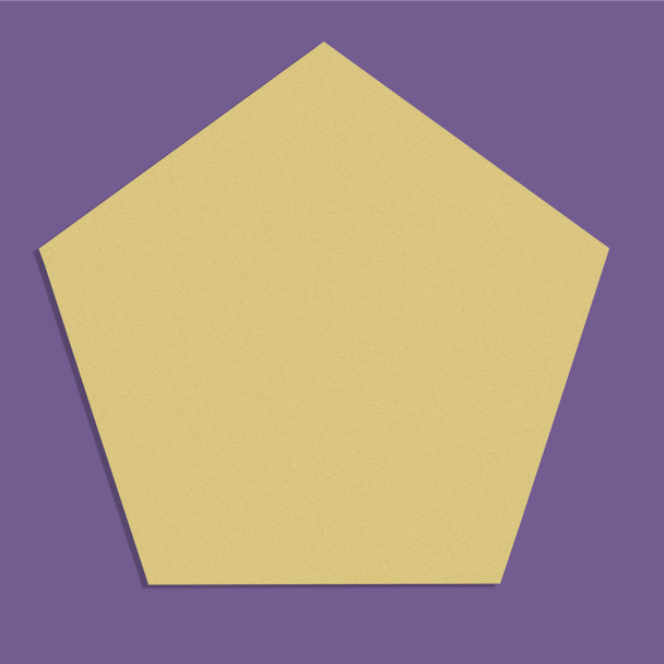 Pentagon Unfinished Cutout, Wooden Shape, Paintable Wooden MDF