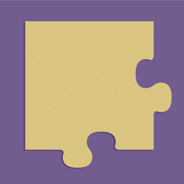Puzzle Corner Unfinished Cutout, Wooden Shape, Paintable Wooden MDF