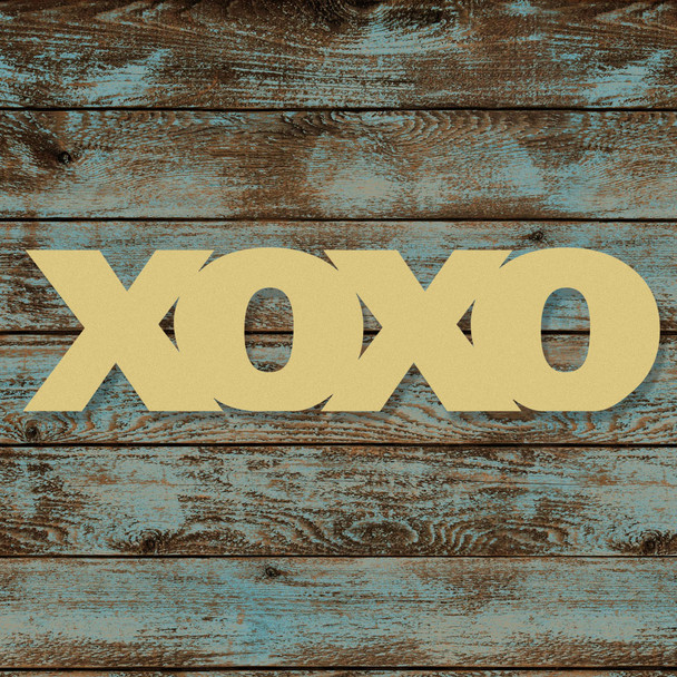 Unfinished Wooden Connected Block Word, XOXO, Alphabet Paintable DIY