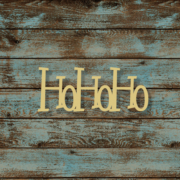 HoHoHo Word Unfinished Cutout, Wooden Shape, MDF DIY Craft
